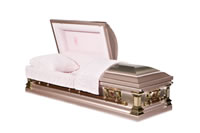 casket: Monticello Pink Rose